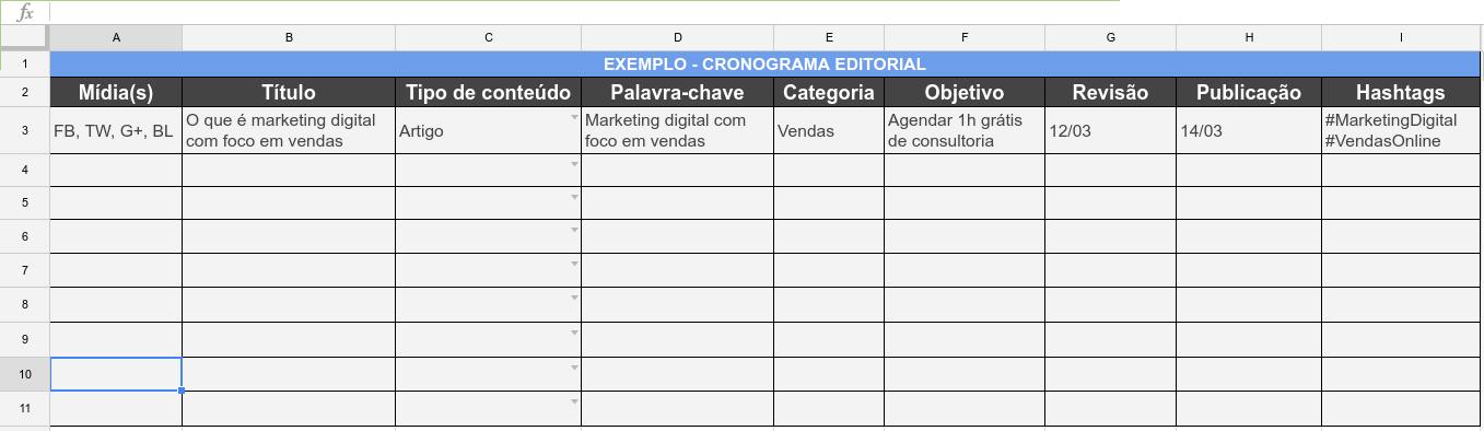Exemplo cronograma editorial